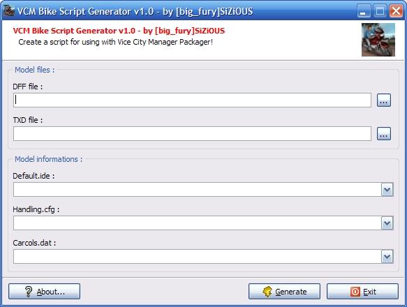 VCM Bike Script Generator